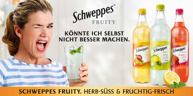 0,50 € auf Schweppes Fruity