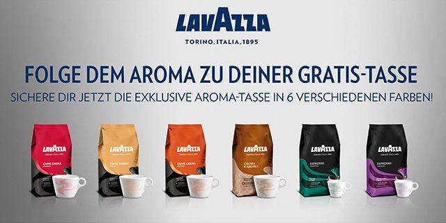 Gratis Aroma-Tasse in 1 von 6 verschiedenen Farben! | Lavazza ...