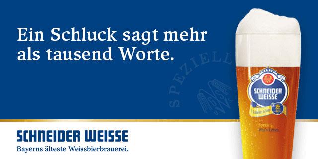 0,50 € auf alle SCHNEIDER WEISSE Weissbier Sixpacks