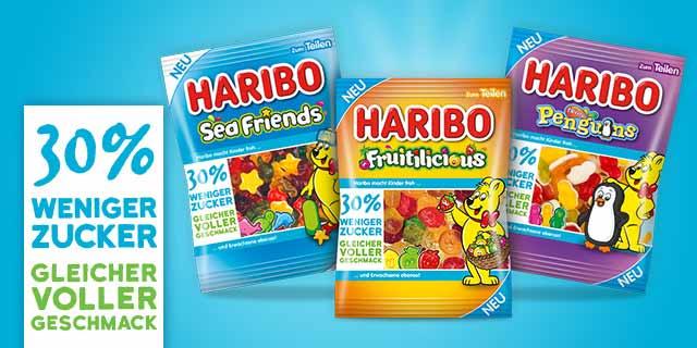 0,30 € Rabatt auf HARIBO zuckerreduzierte Produkte