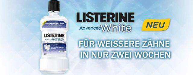 1€ auf LISTERINE® Advanced White & viele weitere Varianten