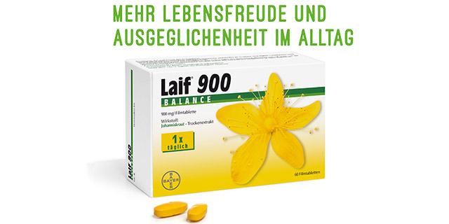 Kaufe eine Packung Laif® 900 Balance und erhalte 2€ zurück!