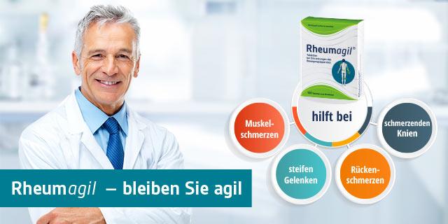 1 € auf Rheumagil – aktiv gegen rheumatische Beschwerden