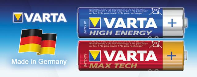 1€ Rabatt auf VARTA Batterien (High Energy und MAX Tech)