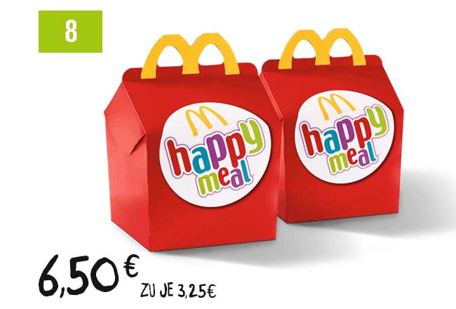 2 Happy Meal Nach Wahl Mcdonalds Coupons Bei Coupies