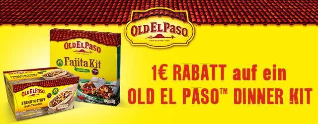 1€ Rabatt beim Kauf eines Old El Paso Dinner Kits