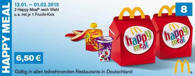2 Happy Meal Nach Wahl Ua Mit 1 Frucht Kick Für Nur 650