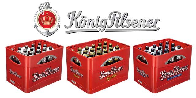 1 € Rabatt auf einen Kasten von König Pilsener