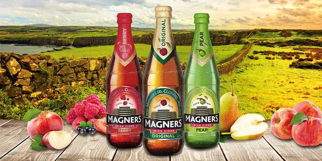 30 % Rabatt auf alle Sorten Magners Cider in der 0,568l Flasche oder 0,5l Dose