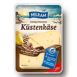 1€ cremig-intensiver Rabatt auf MILRAM Küstenkäse