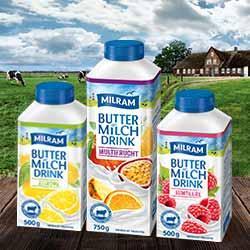 0,30€ Rabatt auf MILRAM Buttermilch Drink