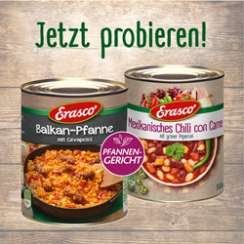 1,00 € auf 1x Erasco Pfannengericht oder 1x Erasco Neue Welten Eintopf 800g!